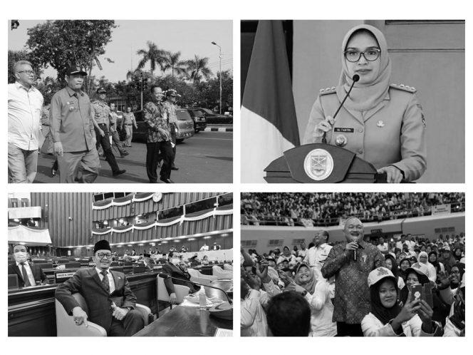 (Dari atas-bawah, kiri-kanan) Saiful Ilah, Puput Tantriana Sari, Hasan Aminuddin, dan Alex Noerdin (Instagram/kolase Kempalan)
