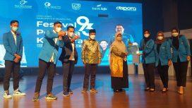 Bupati Bandung HM Dadang Supriatna saat Peringatan Sumpah Pemuda ke-93, di GBS Soreang, Selasa (26/10/21). (Iwa/Kempalan)