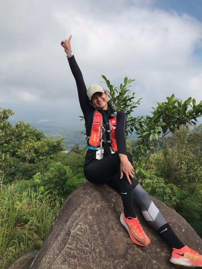 Maya Kurnia Indri ketika mengikuti MesaStila Run, Minggu (10/10). (Foto: Maya Kurnia Indri)