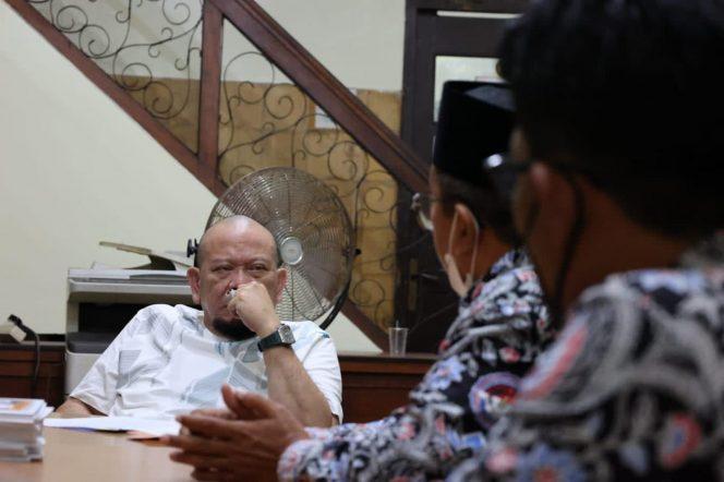 Ketua DPD RI AA, LaNyalla Mahmud Mattalitti, menerima aspirasi dari Persatuan Perangkat Desa Indonesia (PPDI) wilayah Jawa Timur saat menjalani masa reses.