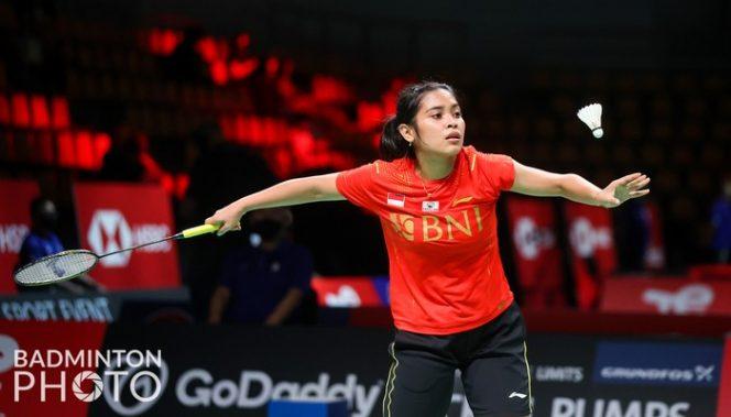 Pebulutangkis tunggal putri Indoensia Gregoria Mariska Tunjung yang batal berduel melawan Ratchanok Intanon. (Foto: Badminton Photo)